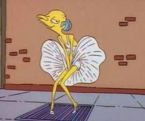 simpsons, the simpsons, and Marilyn Monroe image