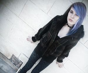 alt girl, blue hair, and dyed hair image