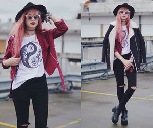 grunge, fashion, and pink hair image