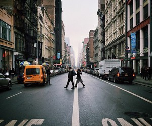 avenue, morning, and new york image