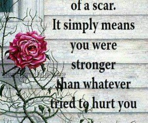 scars, quotes, and strong image
