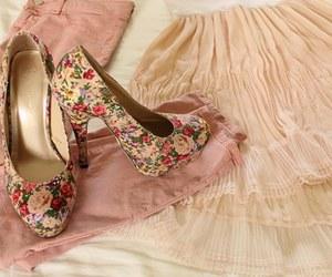 cream, skirt, and fashion image