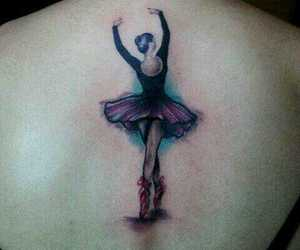 ballerina, ballet, and tattoo image