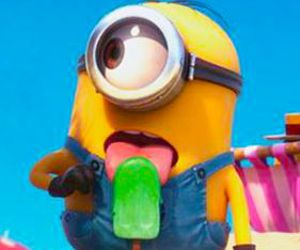 minions, ice cream, and summer image