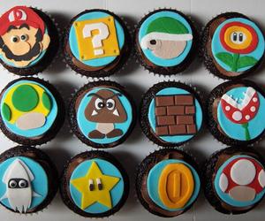 cupcake, mario, and food image