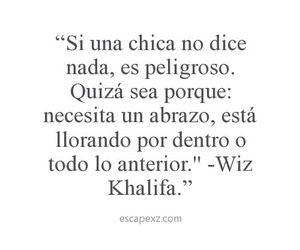 girl, wiz khalifa, and frases image