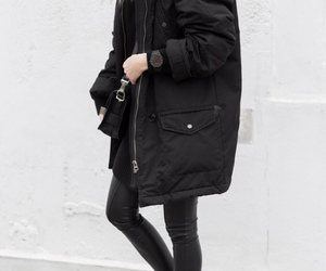 fashion, black, and winter image