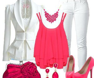 pink, ouftit, and love image