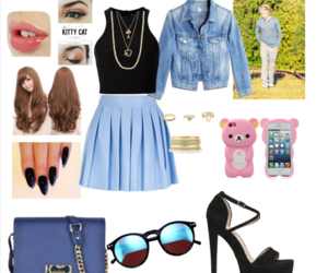 makeup, moda, and outfit image