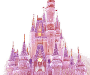 castle, disney, and pink image
