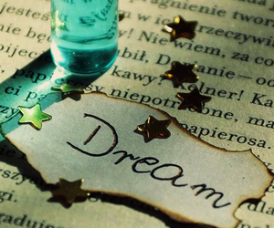 Dream, stars, and book image