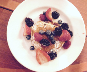 fruit, pancake, and bluberry image