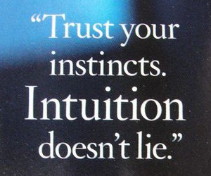 quote, intuition, and facts image