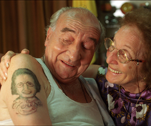 couple, lovely, and tattoo image