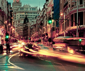 light, cars, and city image
