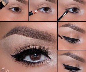 make up, makeup, and eye image