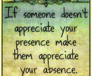 quote, appreciate, and absence image