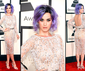 grammys, katy perry, and purple hair image