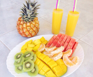 fruit, watermelon, and breakfast image