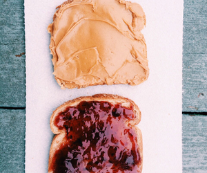 food, peanut butter, and delicious image
