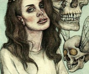 lana del rey, skull, and art image