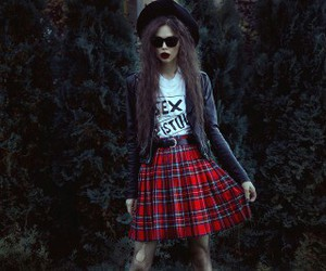 glasses, hair, and grunge image