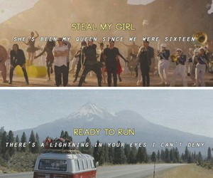 one direction, steal my girl, and ready to run image