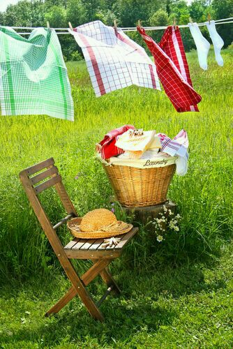 wash, clothesline, and country living image