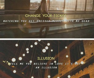 illusion, one direction, and change your ticket image