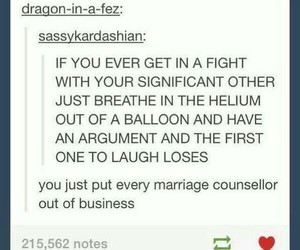 fight, funny, and marriage image