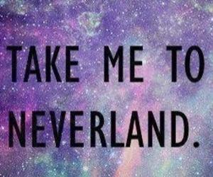 neverland, galaxy, and peter pan image