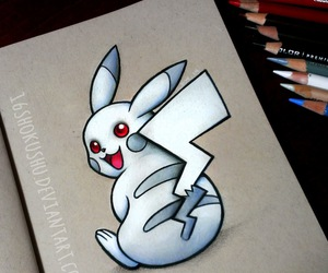 colored pencils, pikachu, and pokemon image