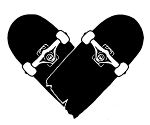 heart, skate, and overlay image