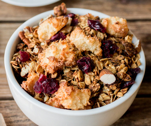 breakfast, oats, and coconut image