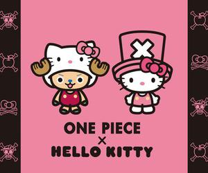 one piece and hello kitty image