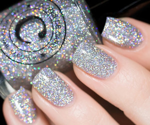 glitter, nails, and nail polish image