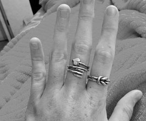 bracelet, fingers, and jewelry image
