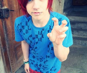 boy, emo, and red hair image