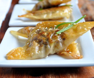 beef, chinese, and dumplings image