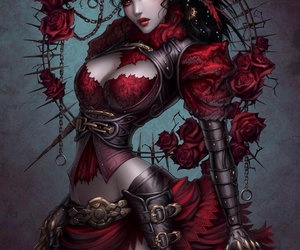 art, steampunk, and roses image