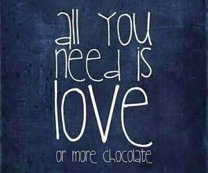 love, chocolate, and quotes image