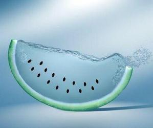 watermelon, water, and fruit image