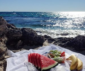 summer, fruit, and beach image