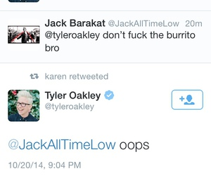 alex gaskarth, all time low, and burrito image