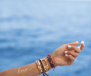 summer, bracelet, and sea image