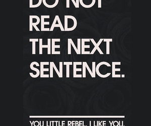 rebel, funny, and read image
