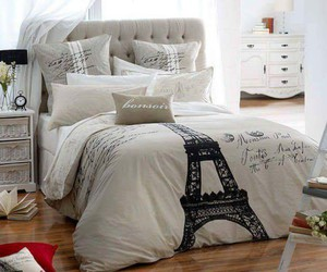 bedroom, paris, and bed image