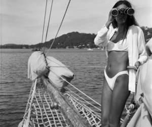 summer, black and white, and bikini image