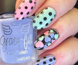 colorful, nails, and polish image