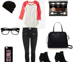 outfit, clothes, and glasses image